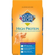 Nature's Recipe High Protein Chicken Meal & Lamb Meal Recipe Dry Dog Food, 30-lb bag
