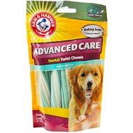 Arm & Hammer Dental Advanced Care Dental Twist Chews Dog Treats, 8 count
