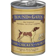 Hound & Gatos  Lamb, Chicken & Salmon Formula Grain-Free Canned Dog Food, 13-oz, case of 12
