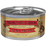 Hound & Gatos Salmon Formula Grain-Free Canned Cat Food, 5.5-oz, case of 24