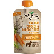 Purina Beyond Natural Chicken & Carrot Puree Dog Food Topper, 3.2-oz pouch, case of 14