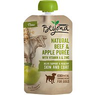 Purina Beyond Natural Beef & Apple Puree Dog Food Topper, 3.2-oz pouch, case of 14
