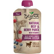 Purina Beyond Natural Beef & Berry Puree Dog Food Topper, 3.2-oz pouch, case of 14