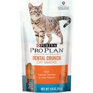 Purina Pro Plan Dental Crunch Cat Snacks with Natural Chicken & Liver Flavors Cat Treats, 1.8-oz bag
