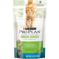 Purina Pro Plan Indoor Crunch Cat Snacks Reduced Calorie with Tuna Cat Treats, 2.1-oz bag