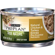 Purina Pro Plan True Nature Natural Chicken & Turkey Entree in Gravy Canned Cat Food, 3-oz can, case of 24
