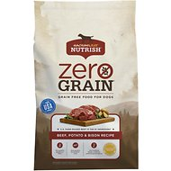 Rachael Ray Nutrish Zero Grain Natural Beef, Potato & Bison Recipe Grain-Free Dry Dog Food, 11-lb bag