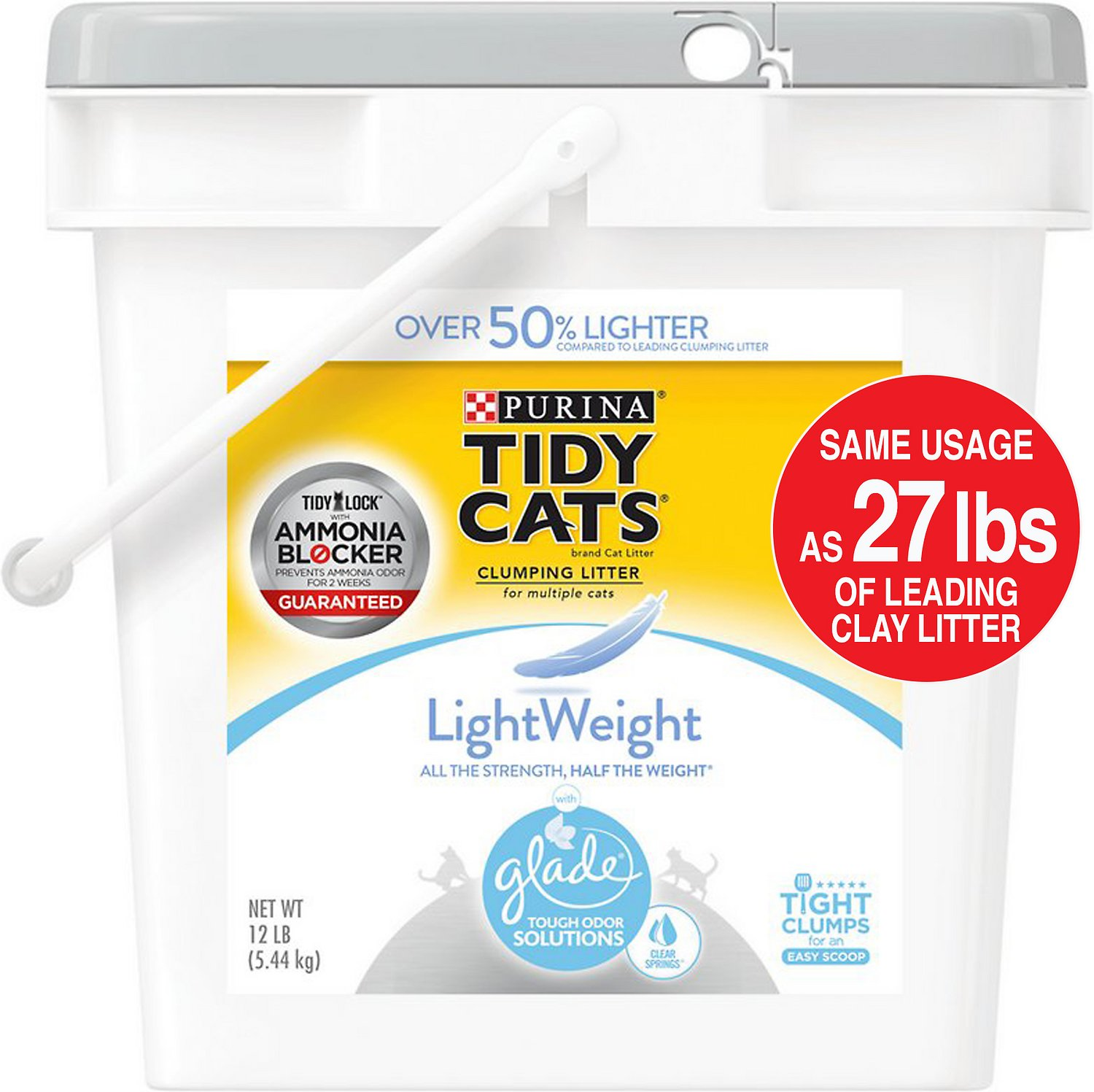 Tidy Cats LightWeight Glade Tough Odor Solutions Clear