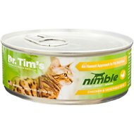 Dr. Tim's Nimble Chicken and Vegetable Pate Canned Cat Food, 5.5-oz, case of 24