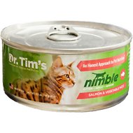 Dr. Tim's Nimble Salmon and Vegetable Pate Canned Cat Food, 5.5-oz, case of 24