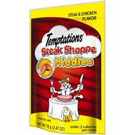 Temptations Steak Shoppe Middles Steak & Chicken Flavor Cat Treats, 2.47-oz bag