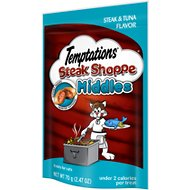 Temptations Steak Shoppe Middles Steak & Tuna Flavor Cat Treats, 2.47-oz bag