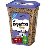 Temptations Creamy Dairy Flavor Cat Treats, 16-oz tub