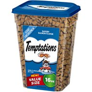 Temptations Savory Salmon Flavor Cat Treats, 16-oz tub