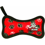 Tuffy's Junior Bone Dog Toy, Red Paws