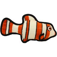 Tuffy's Ocean Creatures Fish Dog Toy, Orange