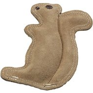 Ethical Pet Dura-Fused Leather Squirrel Dog Toy, Small