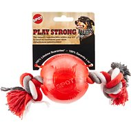 Ethical Pet Play Strong Ball & Rope Dog Toy, 3.25-inch