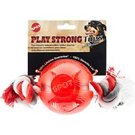 Ethical Pet Play Strong Ball & Rope Dog Toy, 3.75-inch
