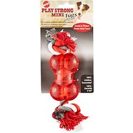 Ethical Pet Play Strong Bone & Rope Dog Toy, 3.5-inch