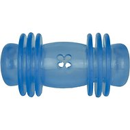 Starmark Crunching Barbell Treat Dog Toy, Large