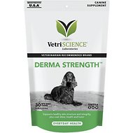 VetriScience Derma Strength Everyday Health Bite-Sized Dog Chews, 30 chews