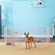 MidWest Exercise Pen 24 inch with Full MAX Lock Door Pet Gate, Pink