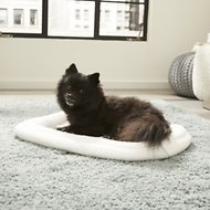 MidWest Quiet Time Deluxe Double Bolster Pet Bed, Fleece, 22-inch