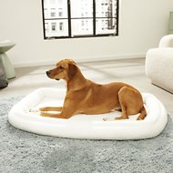 MidWest Quiet Time Deluxe Double Bolster Pet Bed, Fleece, 42-inch