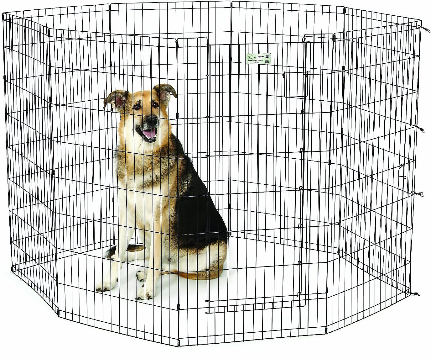Midwest Exercise Pen With Full Maxlock Door Black 48
