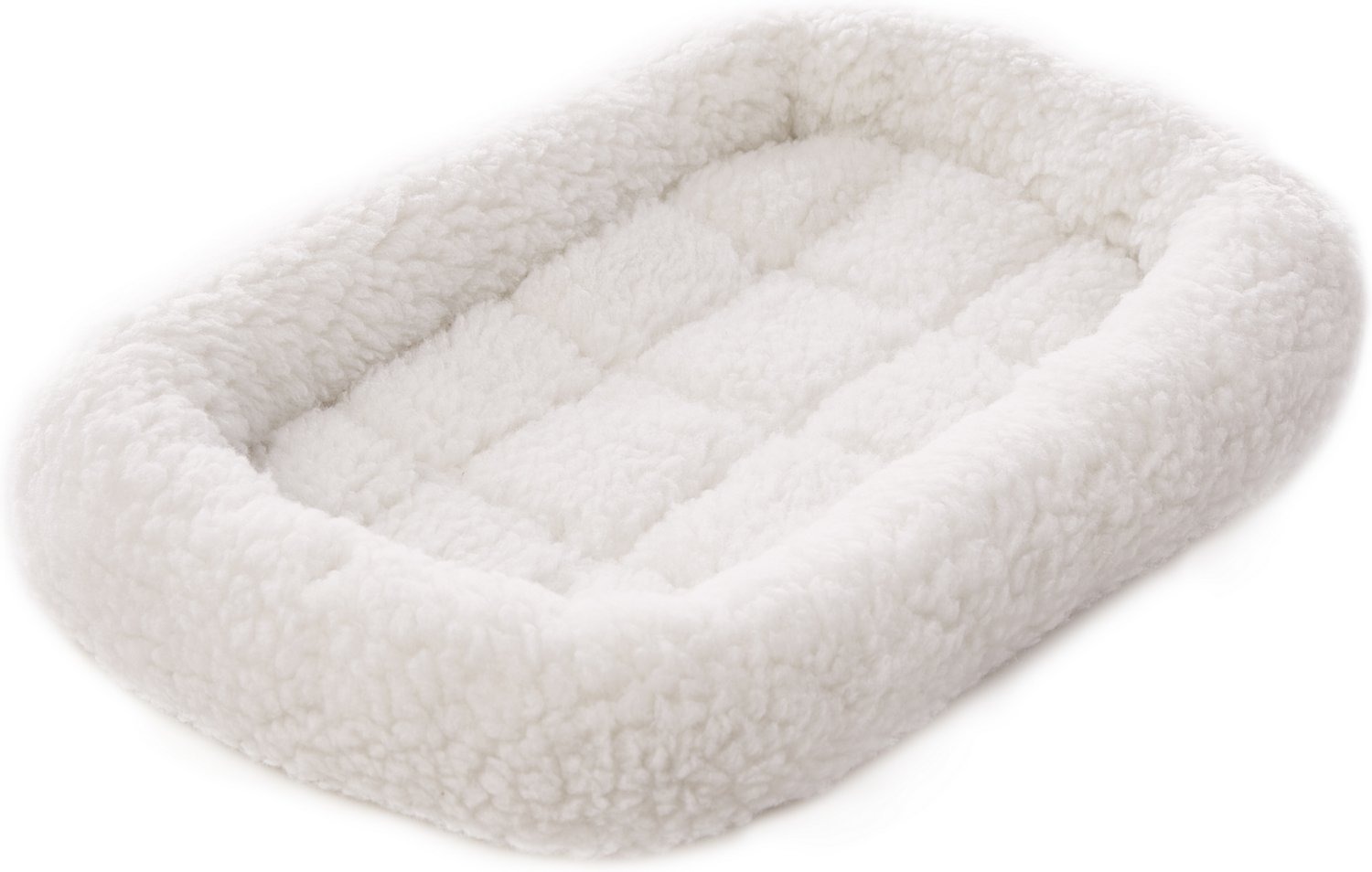 Frisco Quilted Fleece Pet Bed Amp Crate Mat Ivory 18 In