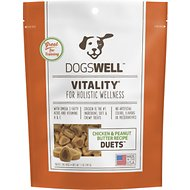 Dogswell Vitality Duets Chicken & Peanut Butter Recipe Dog Treats, 5-oz bag