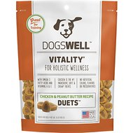 Dogswell Vitality Duets Chicken & Peanut Butter Recipe Dog Treats, 16-oz bag