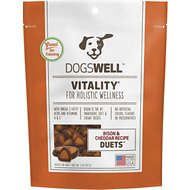 Dogswell Vitality Duets Bison & Cheddar Recipe Dog Treats, 5-oz bag