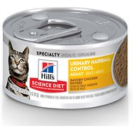 Hill's Science Diet Adult Urinary Hairball Control Chicken Entree Canned Cat Food, 2.9-oz, case of 24