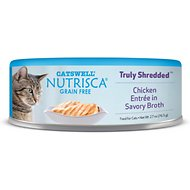 Nutrisca Grain-Free Truly Shredded Chicken Entree in Savory Broth Canned Cat Food, 2.7-oz, case of 24