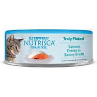 Nutrisca Grain-Free Truly Flaked Salmon Entree in Savory Broth Canned Cat Food, 2.7-oz, case of 24