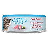 Nutrisca Grain-Free Truly Flaked Tuna & Seaweed Entree in Savory Broth Canned Cat Food, 2.7-oz, case of 24