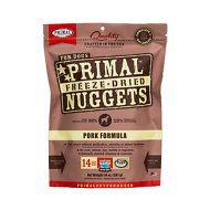 Primal Pork Formula Nuggets Grain-Free Freeze-Dried Dog Food, 14-oz bag
