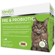 Tomlyn Pre & Probiotic Water Soluble Powder Cat Supplement, 30 count