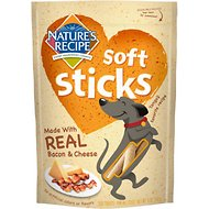 Nature's Recipe Soft Sticks with Real Bacon & Cheese Dog Treats, 5-oz bag