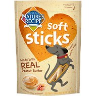 Nature's Recipe Soft Sticks with Real Peanut Butter Dog Treats, 5-oz bag