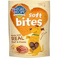 Nature's Recipe Soft Bites Dog Treats with Real Beef & Cheese, 6-oz bag