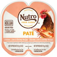 Nutro Perfect Portions Grain-Free Chicken Liver & Shrimp Recipe Cat Food Trays, 2.6-oz, case of 24