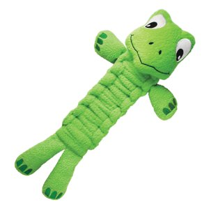 KONG Bendeez Turtle Dog Toy, Large; Help your pal expend his boundless energy with the KONG Bendeez Turtle. This flexible and fun toy is perfect for playtime, anytime. With multiple ways to play, the durable toy can be bent, twisted or shaken for squeaky fun when your pup is playing solo or also perfect for an interactive game of tug-o-war. Made with fleece material, it's soft when your pal bites down, but strong enough to help clean and polish his teeth as he plays.