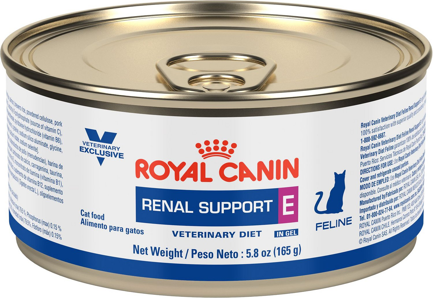 Royal Canin Veterinary T Renal Support E Canned Cat Food 5 8 Oz Case Of 24 Chewy