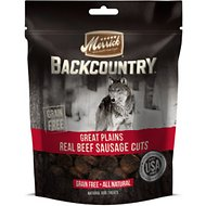 Merrick Backcountry Great Plains Real Beef Sausage Cuts Dog Treats, 5-oz bag
