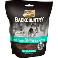 Merrick Backcountry Wild Prairie Real Turkey & Sweet Potato Patties Dog Treats, 4-oz bag