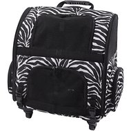 Gen7Pets Roller Carrier with Smart-Level Pet Carrier, Zebra, Up to 20 lbs