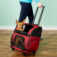 Gen7Pets Geometric Roller Carrier with Smart-Level Pet Carrier, Red, Up to 20 lbs